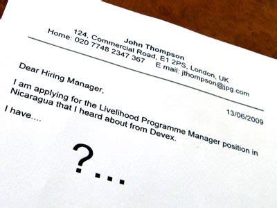 Cover letter developer example